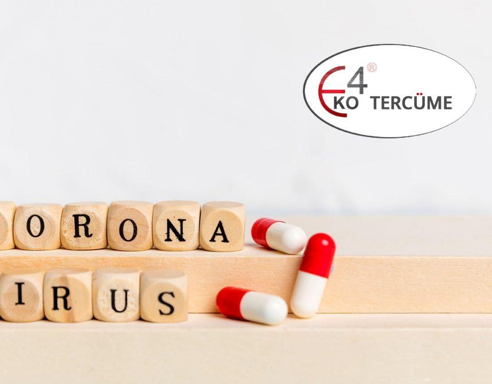 Koronavirüs COVID-19'a karşı alınan önlemler çerçevesinde EKO 4 TERCÜME bürosunda % 40'a varan indirimler