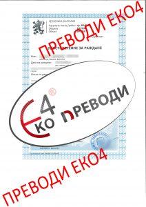 Удостоверение за раждане, издадено в България